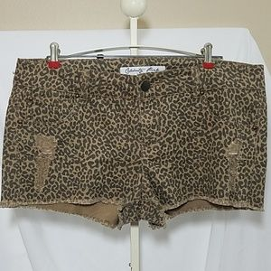 Celebrity Pink Cheetah Print Shorts